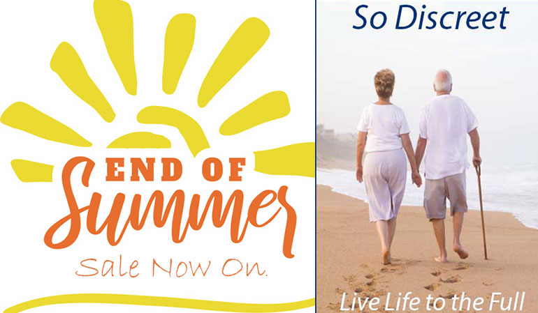 So Discreet End of Summer Sale Now On